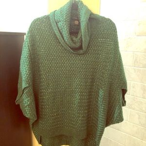 NWOT Kelly Green Sweater with Dolman Sleeves